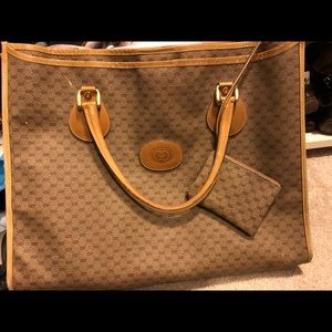 Vintage Gucci Tote with pouch